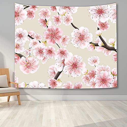 KHKJ Hermoso Tapiz de Flores de Cerezo Dormitorio Tapiz de Paisaje de Cerezo 3D Tapiz de Tapiz para Colgar en la Pared Manta de Fondo para el hogar Tela A3 230x180cm