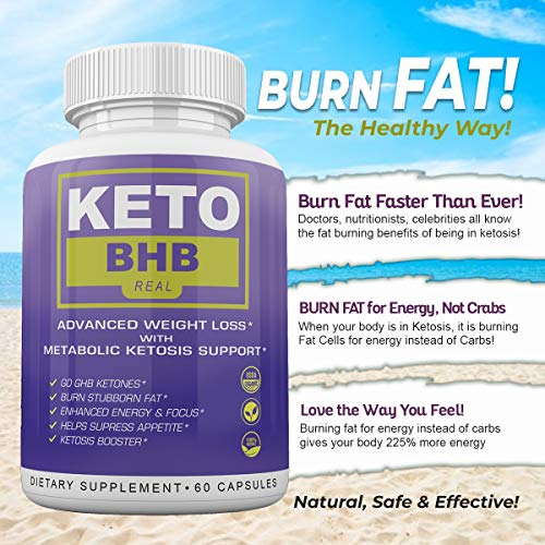 Keto BHB Real - Advanced Weight Loss with Metabolic Ketosis Support - 180 Capsules - 90 Day Supply 5