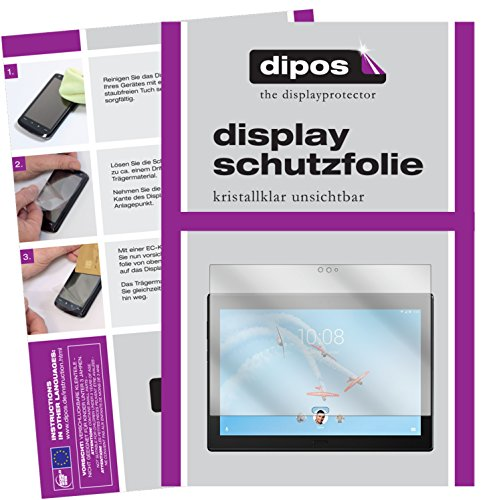 dipos I 2x Screen Protector compatible with Lenovo Tab4 10 Plus TB-X704F Protection Films clear