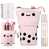 Kawaii Pencil Case, Cute Pencil Case, Pencil Pouch, Large Pencil Holder for Desk, Stationery Pouch for School Students Office Girls Boys - Smile Partten