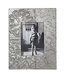 Tin photo frame as a romantic 10 year anniversary gift idea for him