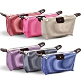 Tumenque Makeup Bag Cosmetic Bags for Women Waterproof Toiletry Bag Multifunction Pouch Bag Portable Travel Pouch Stripe Organizer Set 6 Colors