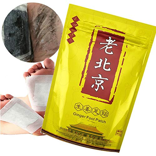 50 Pcs Anti-Swelling Ginger Foot Pads For Promote Blood Circulation & Metabolism, Pain & Tiredness Relief, Good Sleep