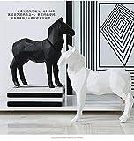 Figura Estatuas Esculturas Decoración Nórdica Geométrica Creativa De Animales Con Origami, Decoración De Caballos De Resina En Blanco Y Negro, Muebles Para El Hogar, Decoración Artesanal, Traje De Dos Piezas En Blanco Y Negro