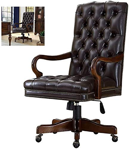 SOAR Gaming Chair Boss Office Chair,Luxurious Home Office Conference Chair, Rotatable, Ergonomic Design, Black Leather