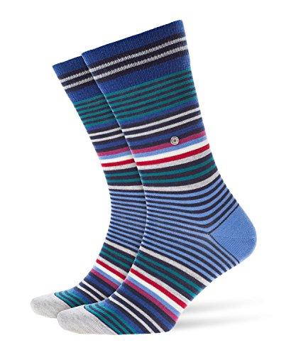BURLINGTON Herren Socken Stripe - Schurwollmischung, 1 Paar, Blau (Marine 6121), 40-46