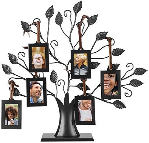 Wifehelper Fotos de la Familia de Moda Marco de Visualización de árboles con Marcos de Fotos Colgantes Decoración para el hogar Buen Regalo(S)