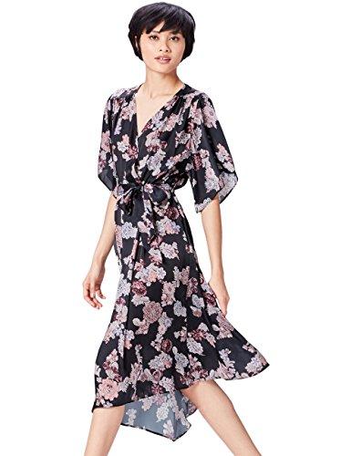 find. 13605 vestidos mujer, Negro (Black Mix), 40 (Talla del Fabricante: Medium)