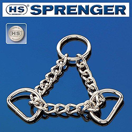 Sprenger 1x Durchzugskette, Stahl, vernickelt, Silber, Zwei D-Ringe, Größe: 25 mm (1
