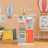 Teamson Kids Kinderküche Spielküche, Holzküche, Jungen & Mädchen TD-11708R