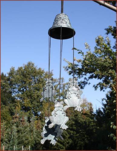 Carillon éolien avec grenouille