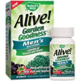 Nature's Way Alive! Garden Goodness Men's Multivitamin, Veggie & Fruit Blend (1400mg per serving), Made with Organic Kale, 60 Tablets