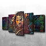 YFTNIPL Bilder 5 Teilig Leinwand Art Bilder Aragorn