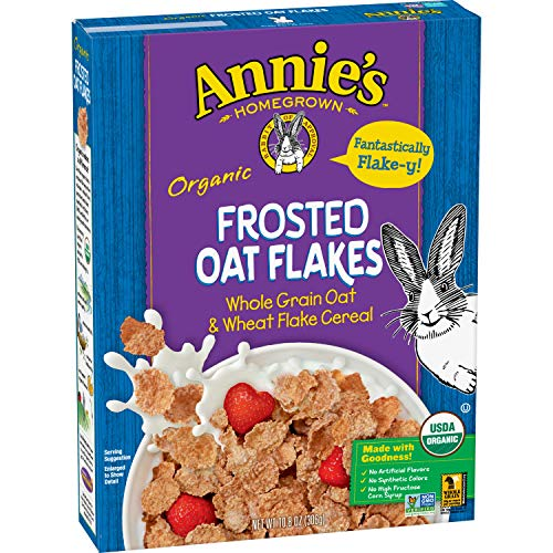 Annie#039s Organic Frosted Oat Flakes Whole Grain Cereal 108 oz Pack of 10