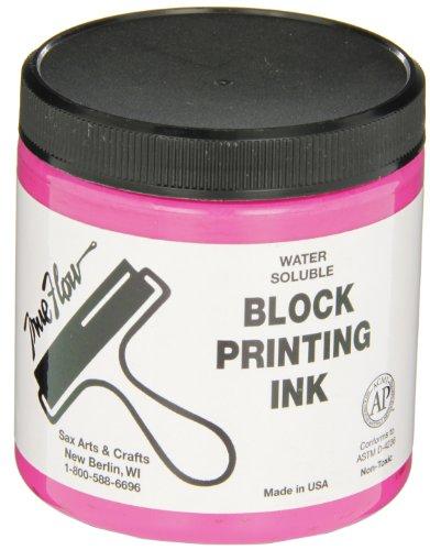 Sax True Flow Water Soluble Block Printing Ink - 8  Ounce Jar - Magenta - 461936