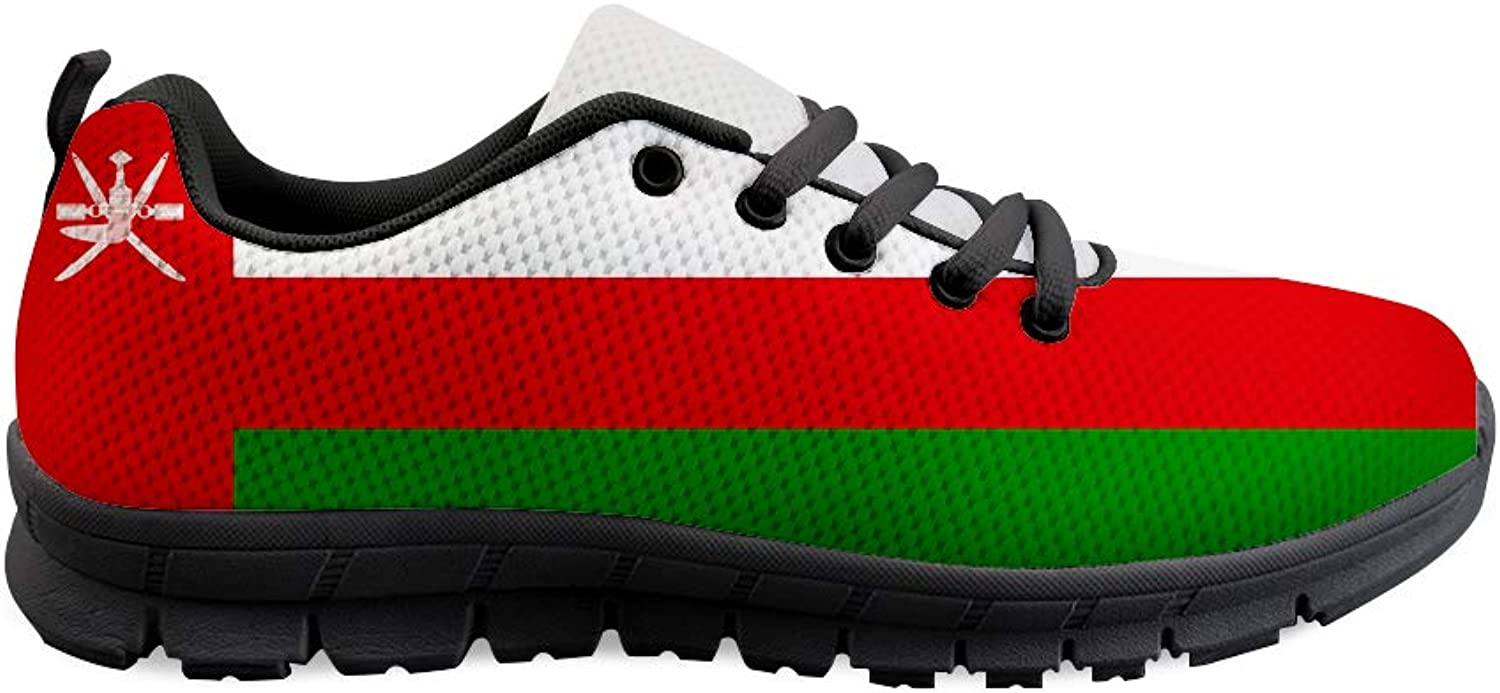 Lace-up Sneaker Training shoes Mens Womens Oman Flag