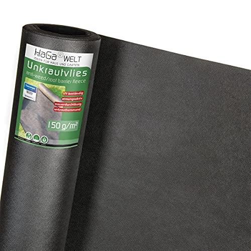 HaGa® Toile anti-mauvaises herbes - 150 g/m² - Pour le jardin - Combattre les mauvaises herbes - 1,6 m x 20 m