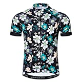 Weimostar Team Bicycle Men Sports Shirts Comfortable Cycling Jersey Youth Outdoor Mountain Bike Wear Green Flower
