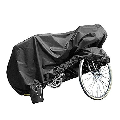 Andux Zone Housse Vélo Housse Protection Vélo Imperméable Etanche Couverture de Vélo/Bicyclette/Bike/Moto Résistant à l'eau Pluie de poussière de soleil UV pour Mountain, Road, Racing Cruiser, vélos électriques et hybrides noir ZXCZ-01