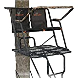BIG GAME LS4950 Spector XT Tree Stand, 17' Two Person Ladder Stand, Flip-Up Flex-Tek Seat, Padded...