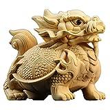 YUXINYAN Buda Decoracion Talla de Madera Escultura Animal Dragón Estatua Feng Shui Decoración del hogar Decoración Feng Shui