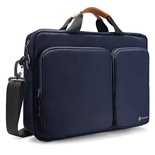 tomtoc Laptoptasche Schultertasche 15/15,6/16 Zoll Lenovo ThinkPad/Acer Aspire/HP Notebook Laptop Tasche Business Notebooktasche Aktentasche Damen & Herren, Dunkel Blau