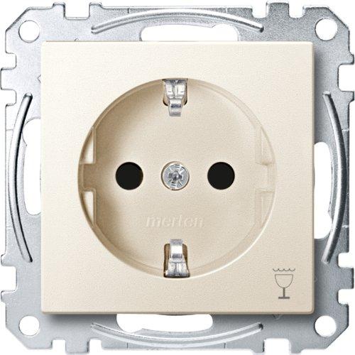 Merten MEG2353-0444 SCHUKO-stopcontact met aanduiding Vaatwasser, BRS, steekklemmen, wit, systeem M