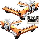 GJZhuan Posicionador de Coches Ruedas Mover Coche, para Autos Posicionamiento de Vehículos Gato Neumático Neumático Camión RV Remolque Garaje Ayuda Aparcar (Size : 2pcs)