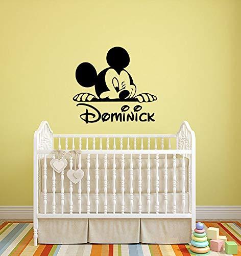 Animal de dibujos animados ratón pared calcomanía personalidad vinilo pegatina artista habitación decoración interior divertida habitación de niños decoración de guardería