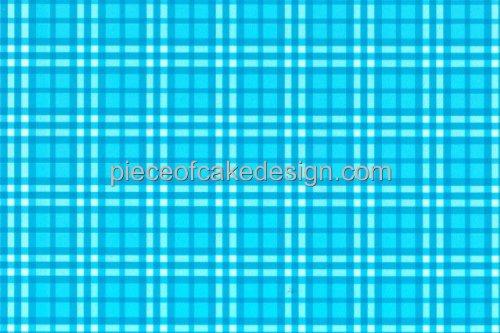 1/4 Sheet - Light Blue Plaid Background - Edible Cake/Cupcake Topper - D976