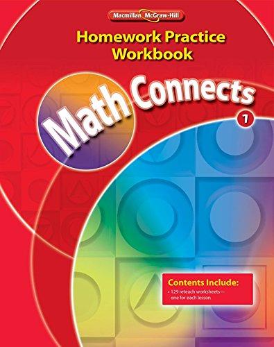 Math Connects, Grade 1, Homework Practice Workbook (ELEMENTARY MATH CONNECTS)