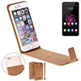 K-S-Trade Cork Case Flip Style Cover for Oukitel U20 Plus,