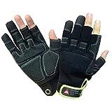 Hase Technik 3 Finger Montage Handschuh Outdoor Mechaniker Techniker Handschuhe Arbeitshandschuhe Größe 9
