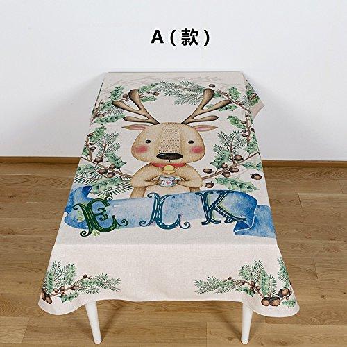 BLUELSS Cartoon animal coton lin et de modélisation pour Table de salle à manger Tables plateau table cloth,A,85x85cm