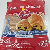 LA BOULANGERE French Chocolate Croissants Pains Au Chocolat Brioche Style Puff Pastry Non GMO 16 PCs, (pack of 1) french chocolate,chocolate 25.4 Ounce