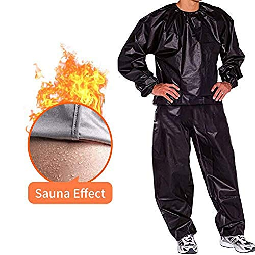 FGDJTYYJ Fitness Sweat Sauna Suit, pérdida de Peso Corporal Sweat Sauna Gym Wear Anti-Rotura PVC Hombres y Mujeres (Color : Silver, Size : XXXL)