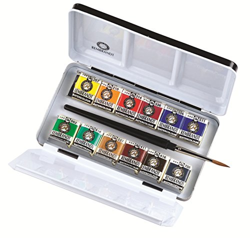 Rembrandt Watercolour Metal Deluxe Set of 12 Half Pans