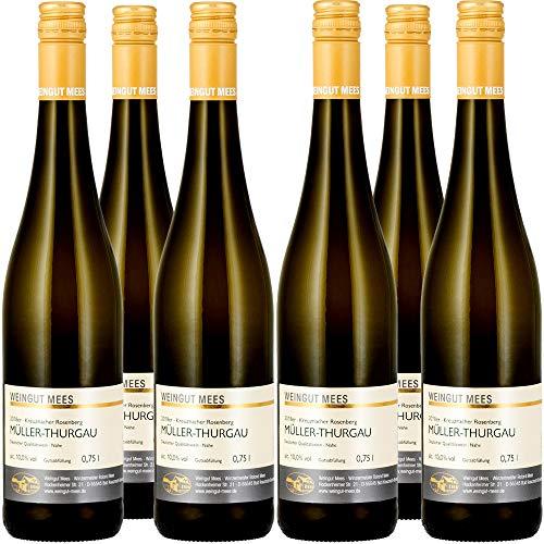 Weingut Mees MÜLLER-THURGAU LIEBLICH SÜSS 2018 Weißwein Wein Deutschland Nahe Paket (6 x 750 ml) 100% Müller-Thurgau
