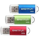 EASTFUN 3 Pack 16GB USB 2.0 Flash Drive Memory Stick Thumb Drive Thumb Stick...
