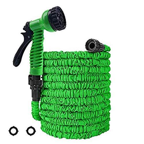 SODIAL Garten Schlauch 50 Fu? Schlauch mit 7 Muster SprüH DüSe Extra Starker Gewebe Schutz Falt Schlauch für Garten Autos