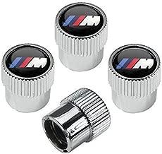 OSIRCAT M Logo Tire Valve Stem Caps for BMW M Accessories,Zinc Alloy Plating Chrome Universal Car Wheel Tire Valve Covers Set of 4