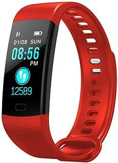 HOLACZES Reloj Elegante Y5, Color De La Pantalla Bluetooth Pulsera Deportes, IP67 A Prueba De Agua Rastreador De Ejercicios Contador De Calorías con Pulsómetro