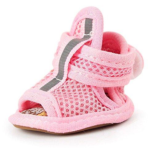 Zapatos del perro de malla zapatos Breathable perrito sandalias, protectoras botas