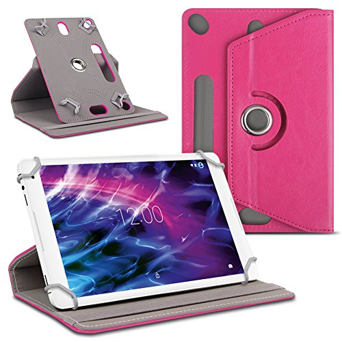 UC-Express Tablet Schutzhülle für Medion Lifetab P10610 P10606 P9701 P10602 X10605 X10607 P9702 X10302 P10400 Tablet Kunstleder Cover Hülle Tasche Hülle, Farben:Pink