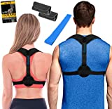 Posture Corrector for Women + Underarm Pads - Upper Back Spine Straightener Correction Slouching Brace - Best Upright Trainer Support Device for Under Clothes, Shoulder Support by Inspiratek