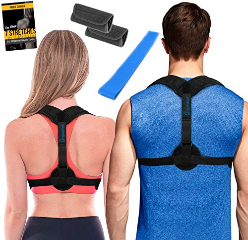Posture Corrector for Women + Underarm Pads - Upper Back Spine Straightener Correction Slouching Brace by Inspired