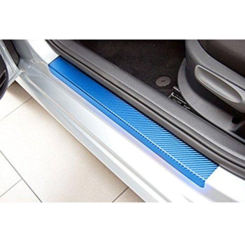 Alician Sedan Hatchback Car Door Sill Scuff Pedal Car Door Plate Car Sticker Protective Accessories blue 3D carbon fiber sticker 3D carbon fiber sticker(4pcs/set) Auto Accessories