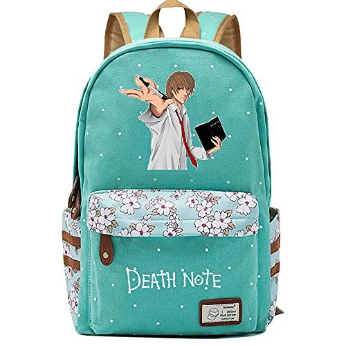 Chan-Mei Mochilas de día unisex con estampado 3D de la escuela secundaria Death Note de Anime Mochila informal ligera