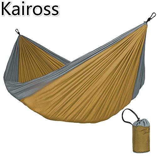Kaiross Draagbare Hangmat Dubbele Persoon Camping Tuin Schommel Jacht Hangende Slaapstoel Reismeubilair Parachute Hangmatten 320 * 200 cm /# 1
