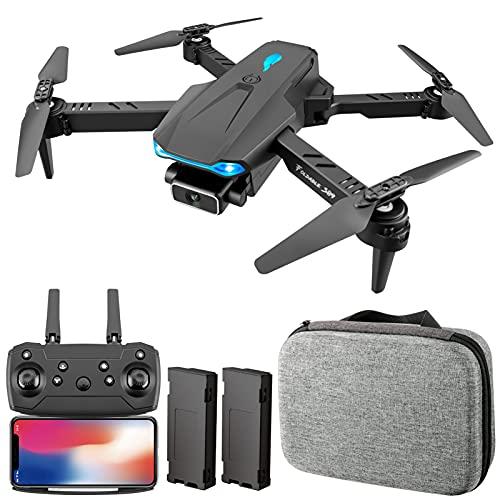 Aumaya Drone RC,S89 RC Drone con fotocamera 4K Wifi FPV Drone Mini Quadricottero pieghevole Giocattolo per bambini con controllo del sensore di gravità Modalità senza testa Gesto Foto Funzione video